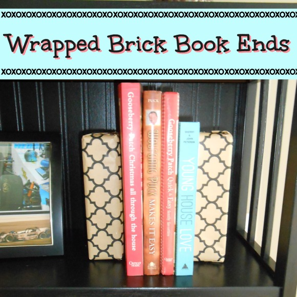 Wrapped Brick Book Ends