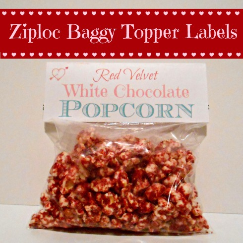 Ziploc Baggy Topper Labels