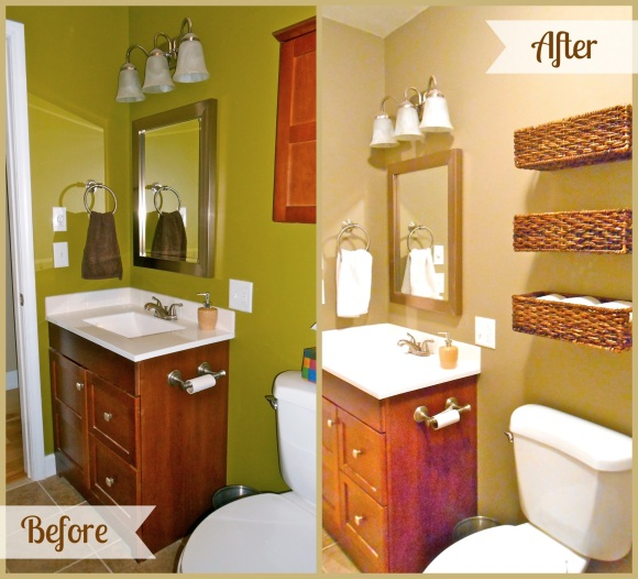 Bathroom Vanity Before After