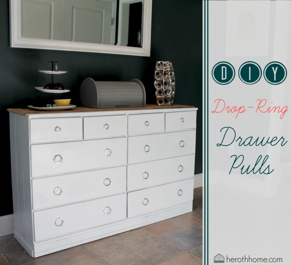 DIY Drop-Ring Drawer Pulls